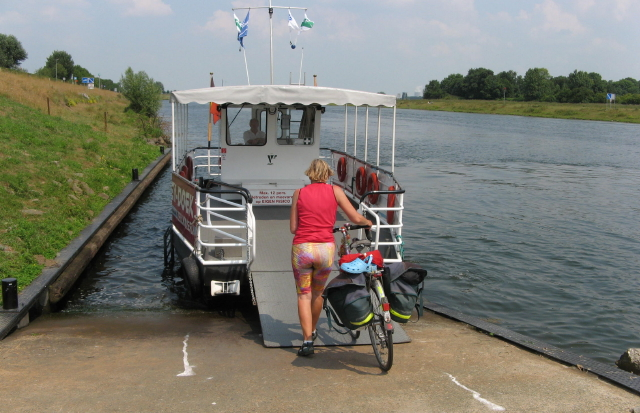 Crossing a canal in Holland